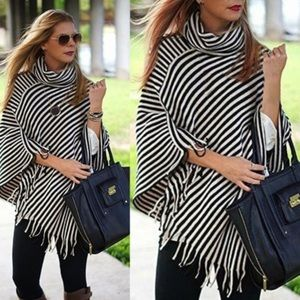COMING SOON! Striped Poncho
